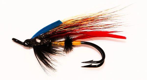 Jock Scott Salmon Fly double hook