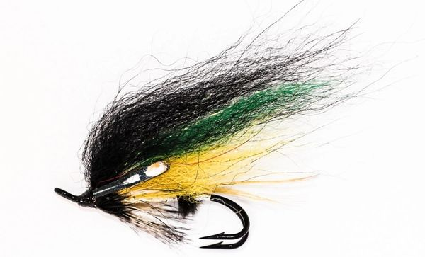 Silver and Grey Salmon Fly double hook