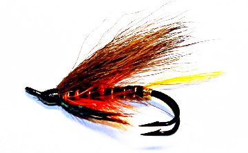 Thunder & Lightning Salmon Fly double hook