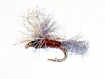 Brown Mayfly parachute 12 pcs. set size