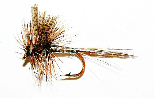 March Brown Silver dry fly 12 pcs. set size