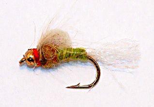 Mayfly Emerger beadhead 12 pcs. set size