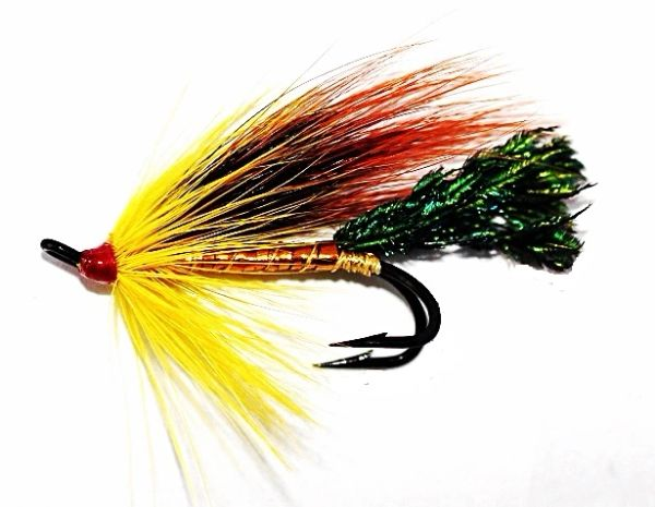 Gold Cossebom Golden Salmon Fly double hook