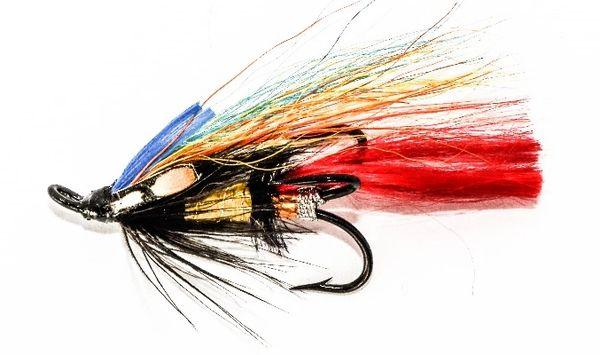 Jock Scott Salmon Fly treble hook