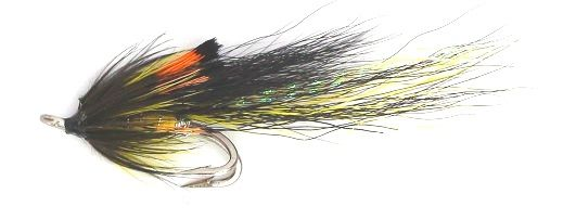 Ally's Shrimp Salmon Fly black and yellow