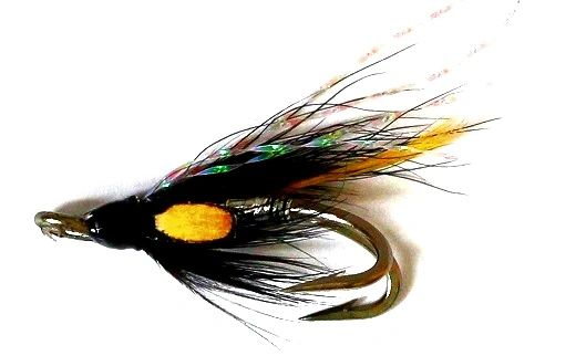 Stoats Tail Silver Salmon Fly double hook