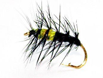 Superpuppan Sedge Caddis yellow/black