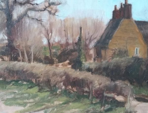 SOLD Oil Sketch, Upper Harlestone 2017