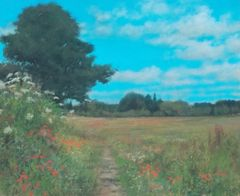 Field Side Track, Great Brington Giclee Print