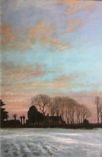 Winter Evening, Lower Harlestone