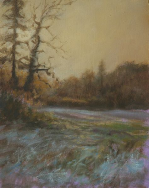 SOLD Oil Study of Frosty Morning