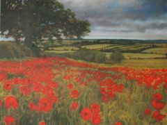 SOLD Poppies near Brixworth Large Canvas