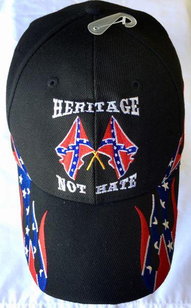 Black Heritage Not Hate Rebel Flames Cap Dl Grandeurs
