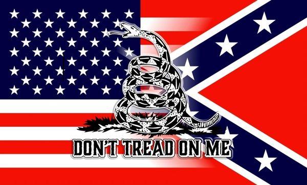 Blended Gadsden Usa Confederate Flag 3 X 5 Dl