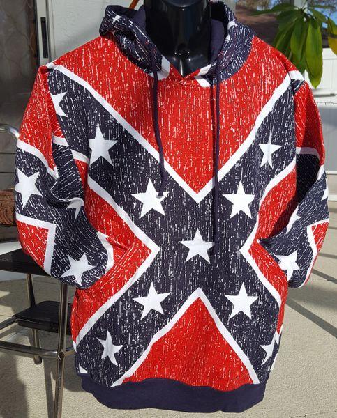 Rebel Flag Hoodie Sweatshirt Pullover