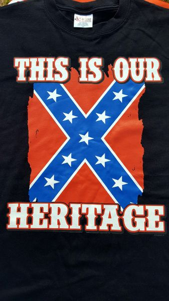 This Is Our Heritage Rebel Flag T-Shirt