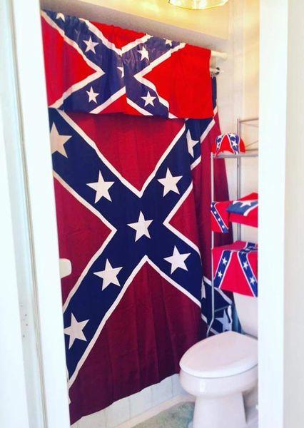 Rebel Shower Curtain Dl Grandeurs Confederate Amp Rebel Goods