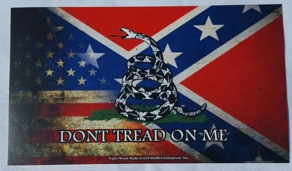 Usa Gadsden Rattlesnake Rebel Bumper Sticker Dl