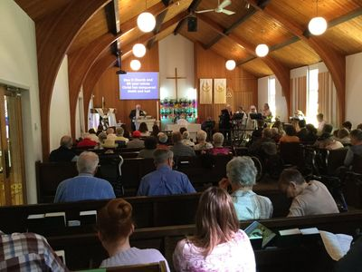 Congregation at St. Andrew's Lutheran Church, Kamloops
