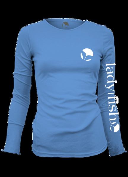 31defa5f69f Ladyfish UPF long sleeve shirt_Columbia Blue_Womens_fishing_shirt | Women's  Fishing shirts | Ladies Fishing Shirts | UPF50 | Fishing