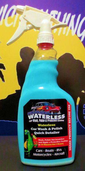 Dualpolymer Waterless Motorcycle Car Wash 24oz Unit
