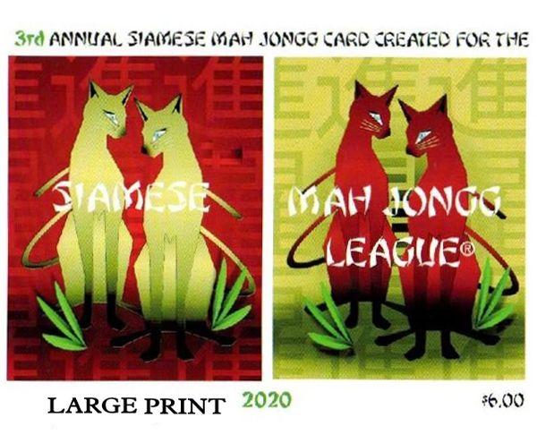 SIAMESE MAH JONGG PLAYING CARD LARGE PRINT