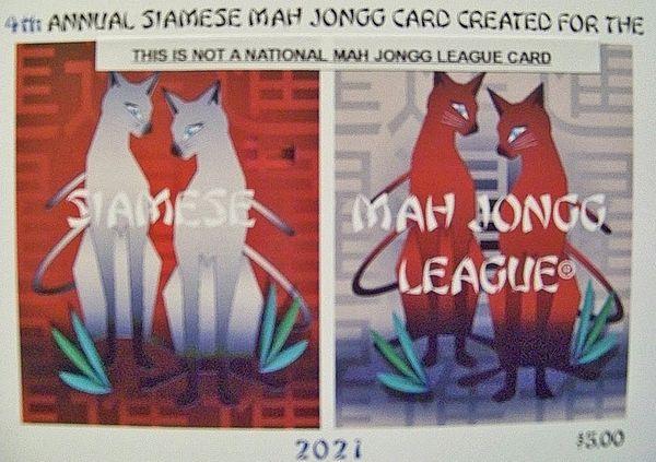 SIAMESE MAH JONGG PLAYING CARD
