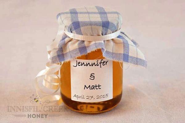 Honey Wedding Favors.Honey Wedding Favours 125 Ml Jar