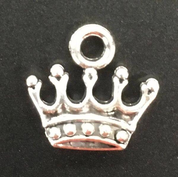 Princess Crown Charm Tibetan Silver Metal