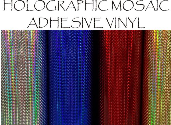 Holographic Mosaic Adhesive Vinyl