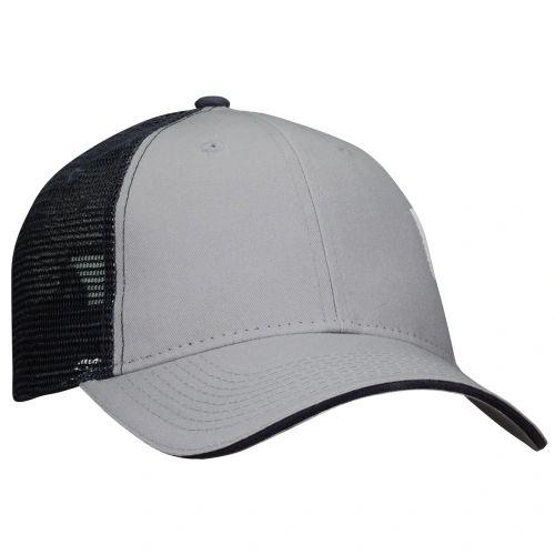 Mesh Back Sandwich Cap - Mid Profile - Grey/Navy