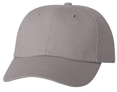 Cotton/Twill Cap - Low Profile - Silver/Grey