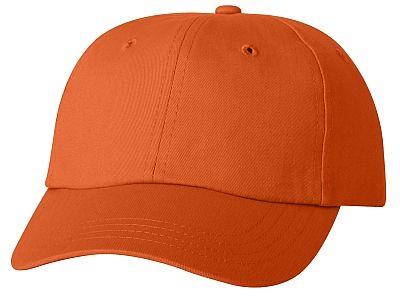 Cotton/Twill Cap - Low Profile - Orange