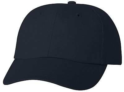 Cotton/Twill Cap - Low Profile - Navy