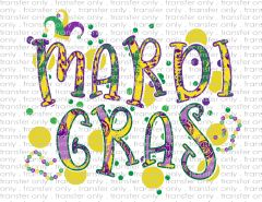 Sublimation Transfer - Mardi Gras
