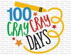 Sublimation Transfer - 100 Days of School