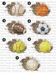 Sublimation Transfer - Leopard Ball Frames