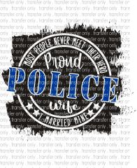 Multi-Surface Transfer - Police Wife