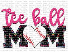 Sublimation Transfer - Tee Ball Mom