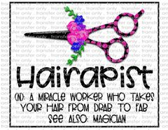 Sublimation Transfer - Hair Dresser