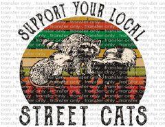 Sublimation Transfer - Street Cats