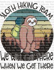 Sublimation Transfer - Sloth Hiking