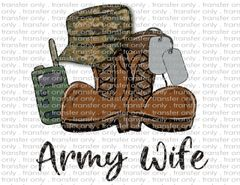 Sublimation Transfer - Army Wife