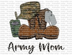 Sublimation Transfer - Army Mom