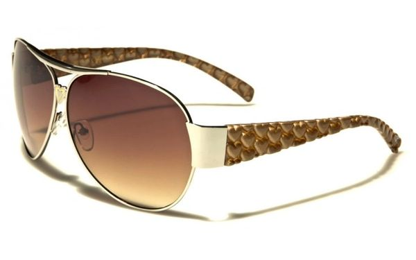 96004 Romance Wide Arm Aviators Brown