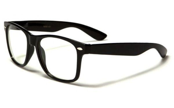 Retro Clear Lens Black Wholesale Dozen