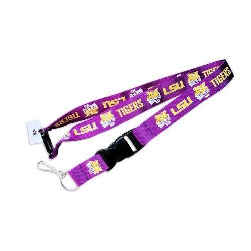 NCAA Louisiana State Tigers Purple Lanyard