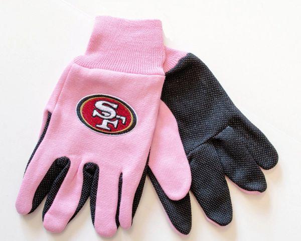 NFL San Francisco 49ers Sport Utility Gloves Pink