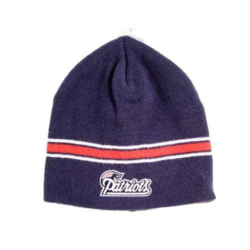 NFL New England Patriots Beanie with Red Stripe