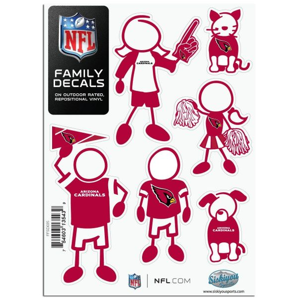 NFL Arizona Cardinals Small Family Decals